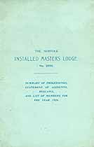 Thumbnail image of Norfolk Installed Masters, 3905, List of 1926 Members cover