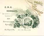 Thumbnail image of E. M. C. Seminary Annual 1888 Commencement cover