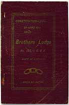 Thumbnail image of I.O.O.F. Brothers Lodge, No. 132, 1907 Members cover