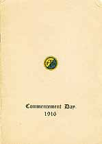 Thumbnail image of Philadelphia Trades School 1916 Commencement cover