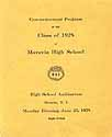 Thumbnail image of Moravia High School 1928 Commencement Program cover