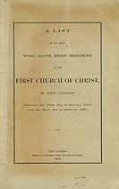 Thumbnail image of New London First Church of Christ 1670-1870 Members cover