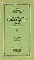 Thumbnail image of Hirst Memorial M. E. Church 1927 Directory cover