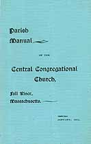 Thumbnail image of Fall River Central Congregational Church 1901 Manual cover