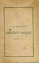 Thumbnail image of Amherst College 1857-8 Catalogue cover