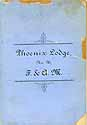 Thumbnail image of Phoenix Lodge, No. 96, F. & A. M. 1887 Roster cover