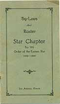 Thumbnail image of Star Chapter O. E. S. 1929-30 Roster cover