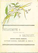 Thumbnail image of Philomath 1898 Banquet cover