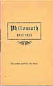 Thumbnail image of Philomath 1932-33 Annual Program cover