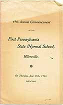 Thumbnail image of First Pennsylvania State Normal School 1903 Commencement cover