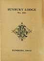 Thumbnail image of Sunbury Lodge, No. 231 K. of P. 1910 Roster cover