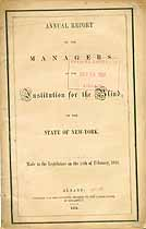 Thumbnail image of N.Y. Institution for the Blind 1851 Annual Report cover