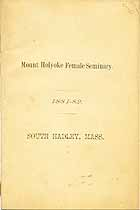 Thumbnail image of Mt. Holyoke Female Seminary 1881 Catalogue cover