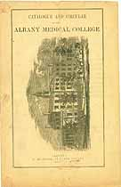 Thumbnail image of Albany Medical College 1863 Catalogue cover