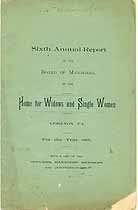Thumbnail image of Lebanon Home for Widows and Single Women 1888 Report cover