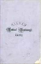 Thumbnail image of Tilden Ladies' Seminary 1877 Catalogue cover