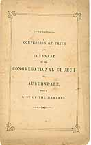 Thumbnail image of Auburndale Congregational Church 1866 Member List cover