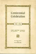 Thumbnail image of New Brunswick First Baptist Church Centennial cover