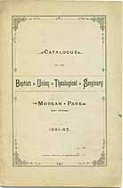 Thumbnail image of Baptist Union Theological Seminary 1882 Catalogue cover