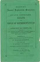 Thumbnail image of Goodwin's 1856 Legislative Statistics of Connecticut cover
