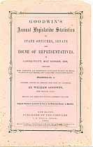Thumbnail image of Goodwin's 1858 Legislative Statistics of Connecticut cover