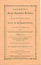Thumbnail image of Goodwin's 1860 Legislative Statistics of Connecticut cover