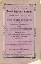 Thumbnail image of Goodwin's 1875 Legislative Statistics of Connecticut cover