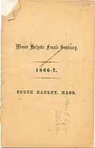 Thumbnail image of Mt. Holyoke Female Seminary 1866 Catalogue cover