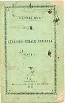 Thumbnail image of Hartford Female Seminary 1851-2 Catalogue cover