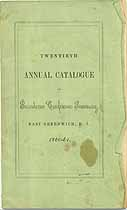 Thumbnail image of Providence Conference Seminary 1860 Catalogue cover