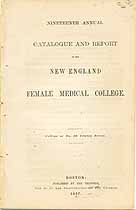 Thumbnail image of New England Female Medical College 1867 Catalogue cover