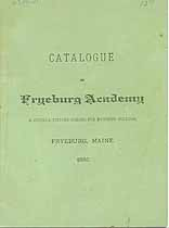 Thumbnail image of Fryeburg Academy 1886 Catalogue cover