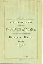 Thumbnail image of Fryeburg Academy 1888 Catalogue cover