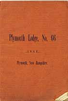 Thumbnail image of Plymouth Lodge, No. 66, I.O.O.F. Members for 1894 cover