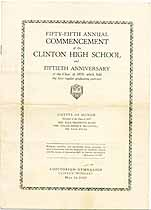 Thumbnail image of Clinton High School 1929 Commencement cover
