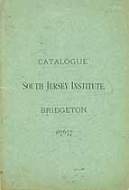 Thumbnail image of South Jersey Institute 1876-77 Catalogue cover