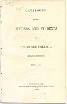 Thumbnail image of Delaware College 1846-47 Catalogue cover