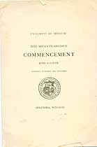 Thumbnail image of University of Missouri 1914 Commencement cover
