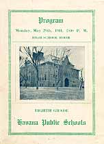 Thumbnail image of Havana Public Schools 8th Grade 1911 Program cover