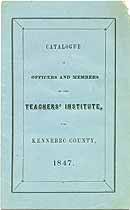 Thumbnail image of Kennebec Co. Teachers' Institute 1847 Catalogue cover
