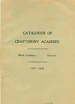Thumbnail image of Craftsbury Academy 1897-1898 Catalogue cover