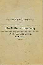 Thumbnail image of Black River Academy 1887-1888 Catalogue cover