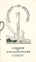Thumbnail image of College of Architecture 1920 Commencement Program cover