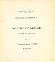 Thumbnail image of Doane College 1900 Commencement cover