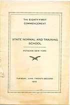 Thumbnail image of Potsdam State Normal School 1915 Commencement cover