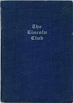 Thumbnail image of The Lincoln Club 1922 Roster cover