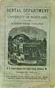 Thumbnail image of Univ. of Maryland Dental Dept. 1892 Catalogue cover