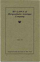 Thumbnail image of Mergenthaler Linotype Company 1913 Officers cover