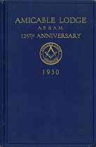 Thumbnail image of Amicable Lodge 1930 Anniversary Program cover