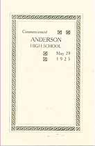 Thumbnail image of Anderson High School 1925 Commencement cover